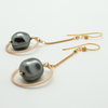 chain circle earrings