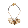 Matte gold cluster disc bracelet with grey pearls by Vivien Walsh