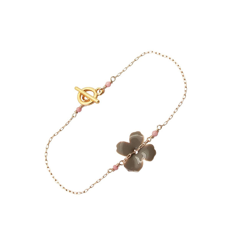 grey enamel flower bracelet