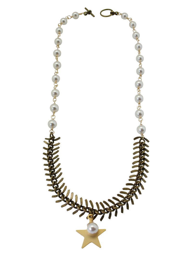 star fishbone necklace