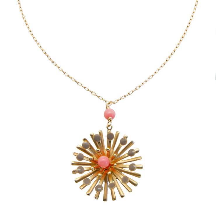 flower spray pendant | coral
