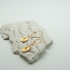 freeform pebble disc earrings