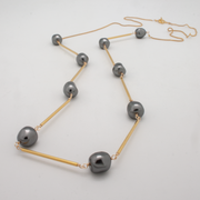long nugget tube necklace