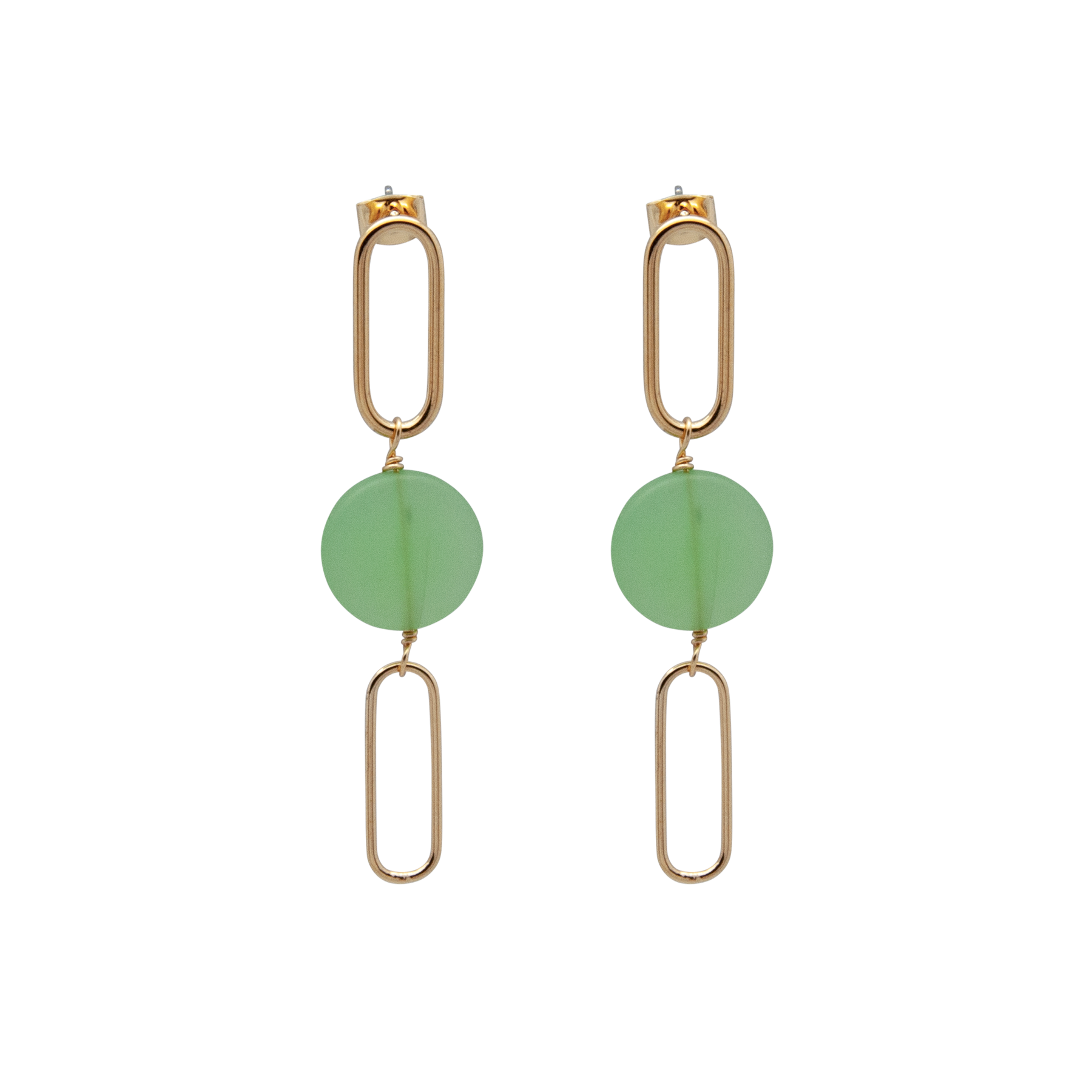 double link earrings