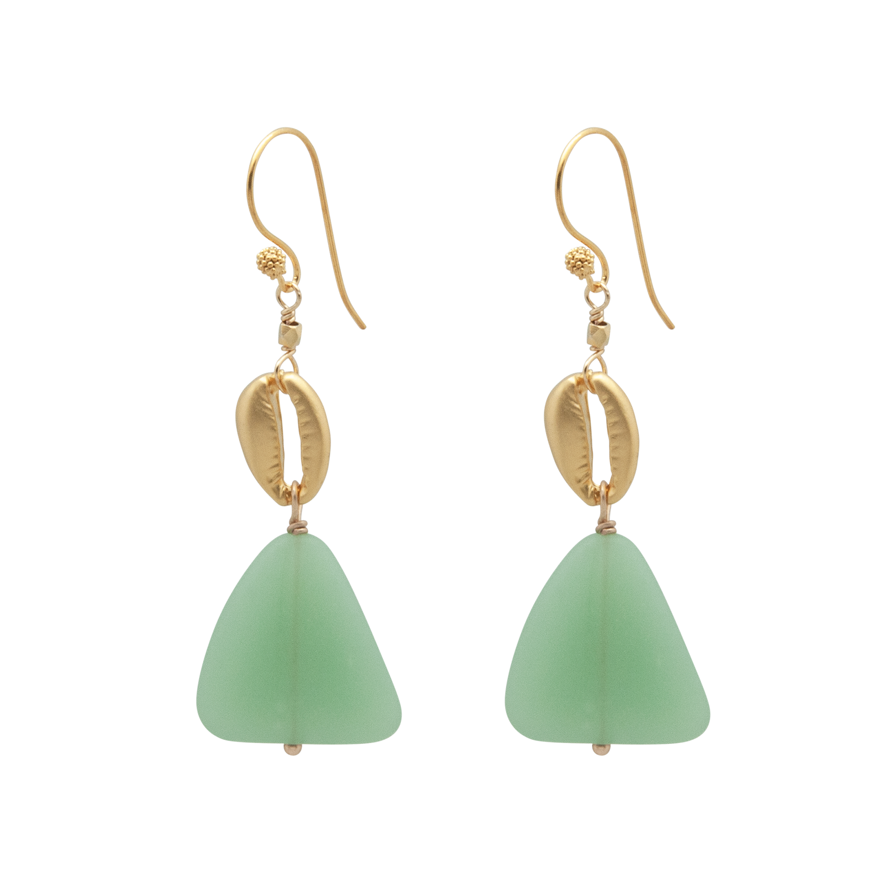 slab shell earrings
