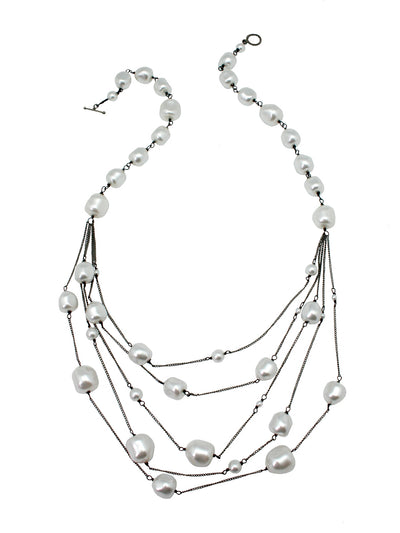 floating necklace white