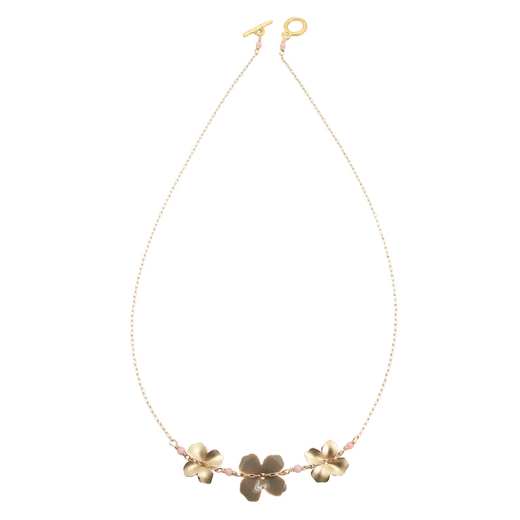 three flower necklace | grey