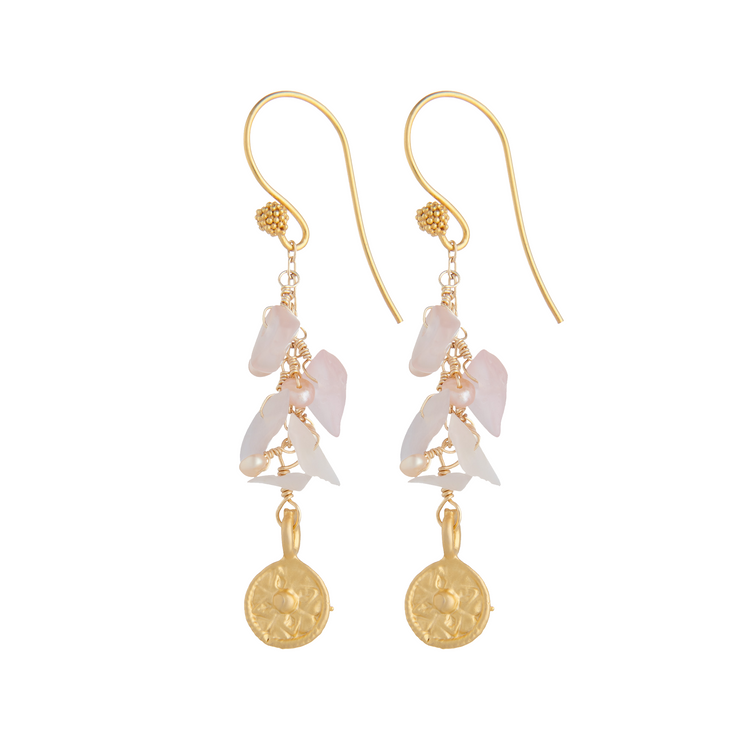 rose waterfall earrings