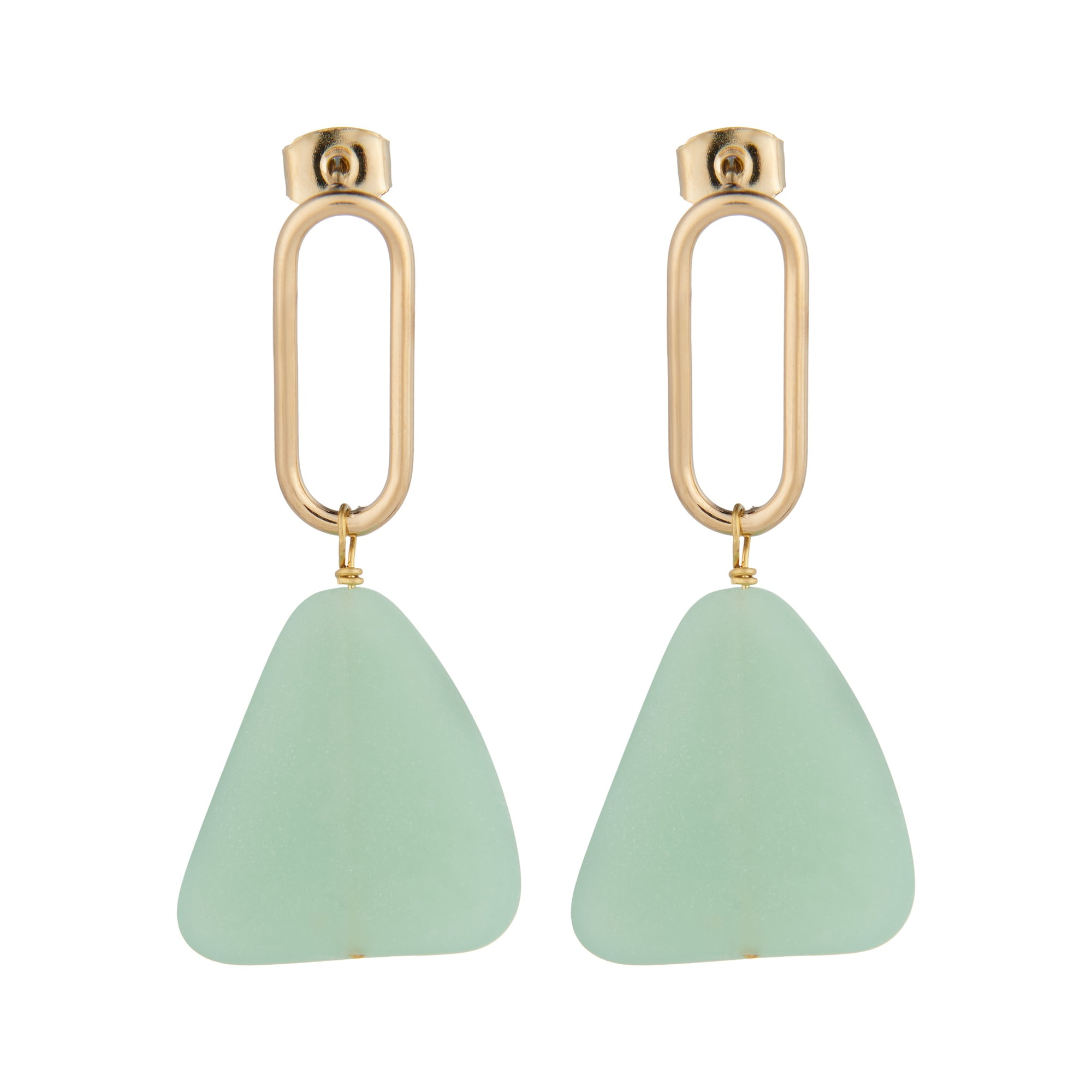 mint slab earrings