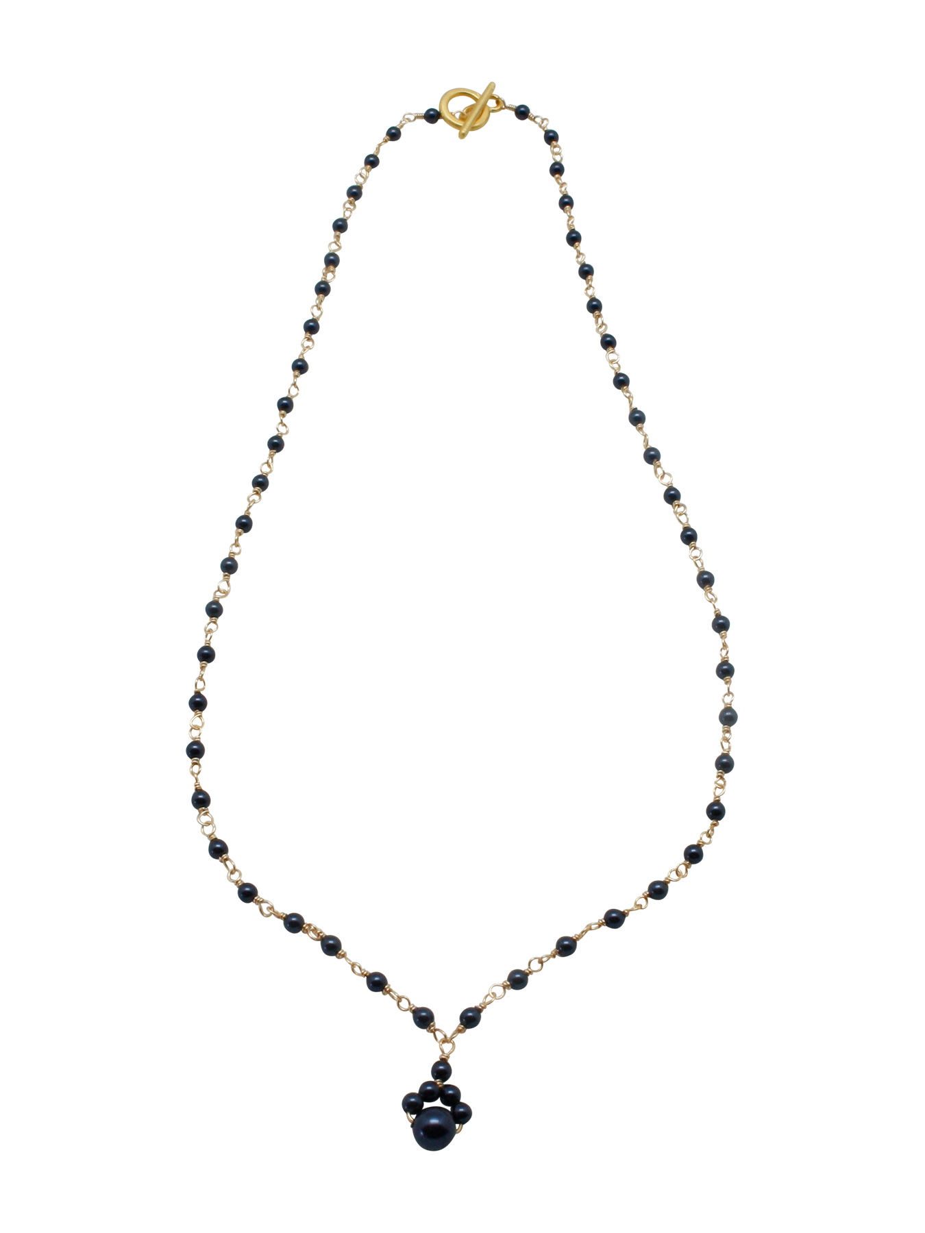 beaded pearl chain