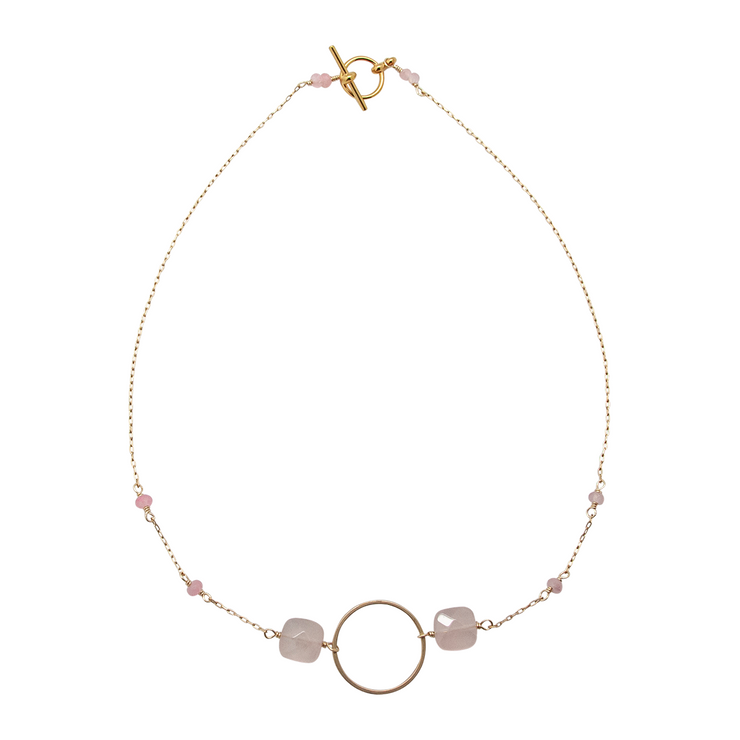 circle necklace rose