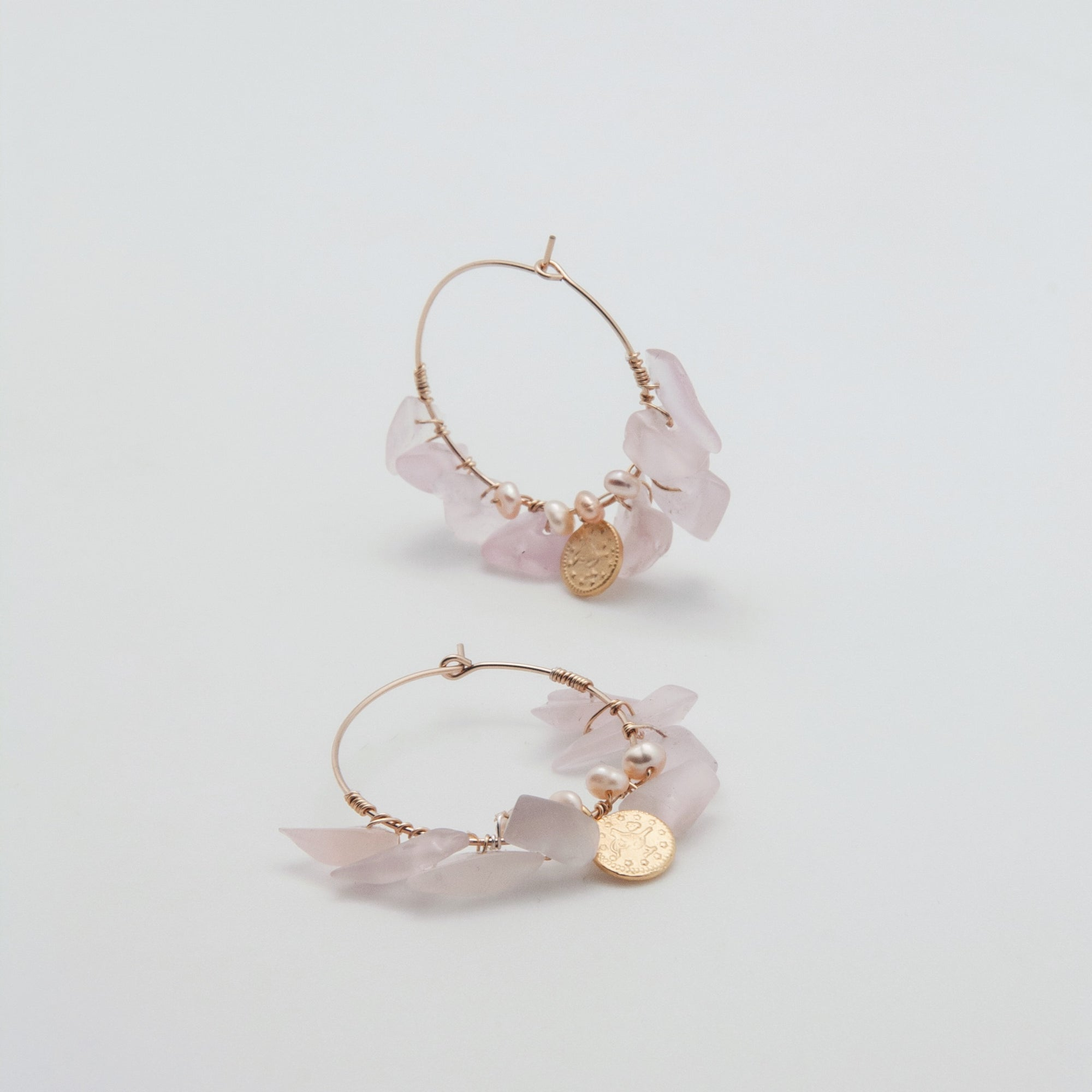rose coin midi hoops