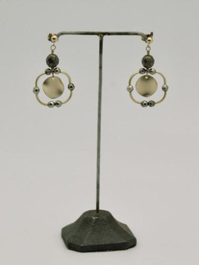 square disc earrings