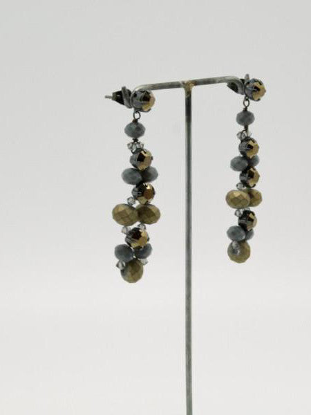 matte gold column earrings by vivien walsh