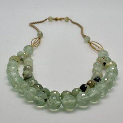 prehnite double row necklace vivien walsh irish designer jewellery
