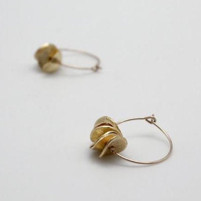 gold filled mini hoop earrings, vivien walsh