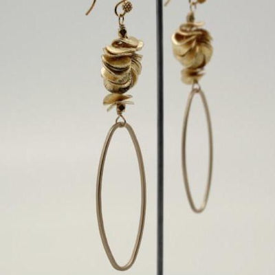 matte gold oval earrings by vivien walsh