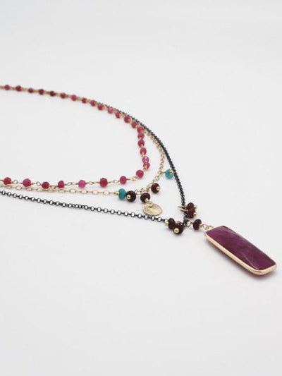 ruby agate charmed necklace by vivien walsh