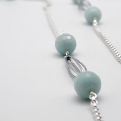 amazonite long cocoon chain necklace by vivien walsh