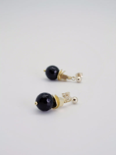 black + gold drop earrings by vivien walsh