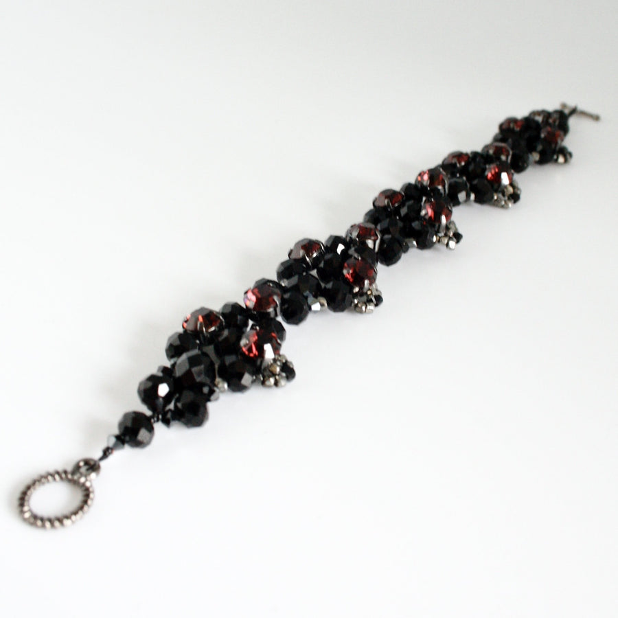 jet black crystal bracelet by vivien walsh