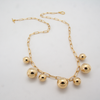 gold ball multi necklace