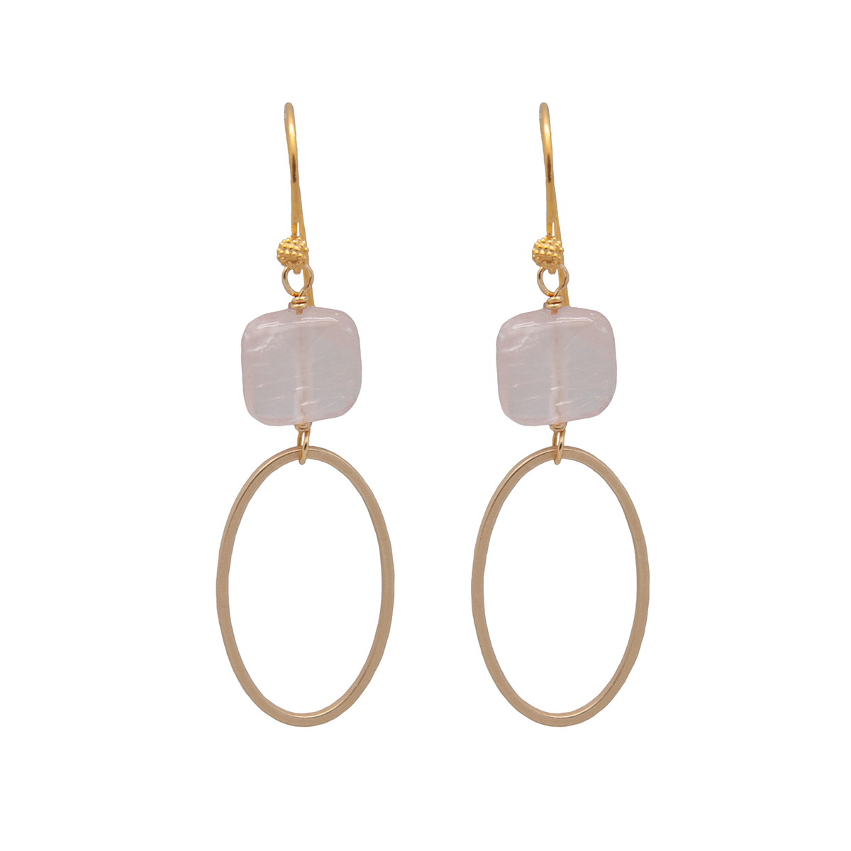 square oval earrings