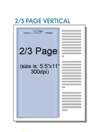Digital Two-Third (2/3) Page Ad