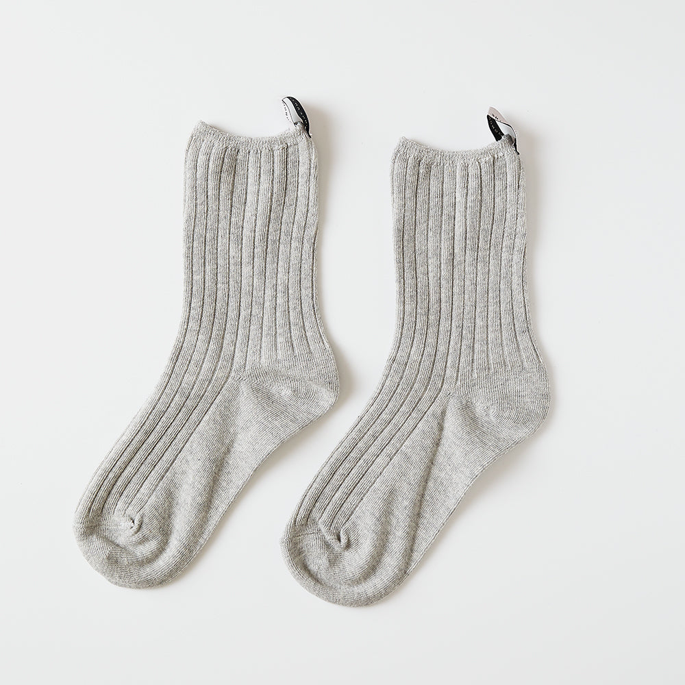High gauge rib socks