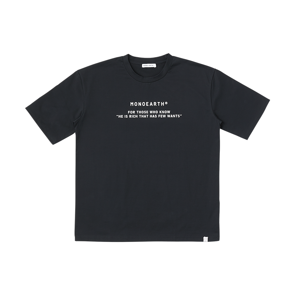 "Ultima message tee MONOEARTH®︎FOR THOSE WHO KNOW ""HE IS RICH THAT HAS FEW WANTS"""
