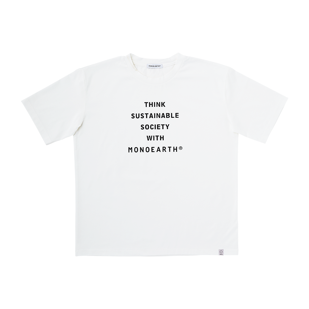 Ultima message tee THINK SUSTAINABLE SOCIETY WITH MONOEARTH®︎