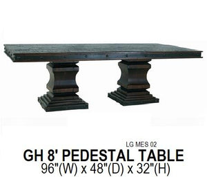 Grand Hacienda 8' Pedestal Table