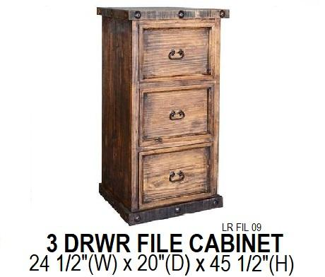 Ponderosa 3 Drawer Filing Cabinet