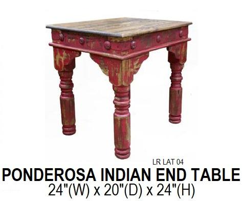 Ponderosa Indian End Table
