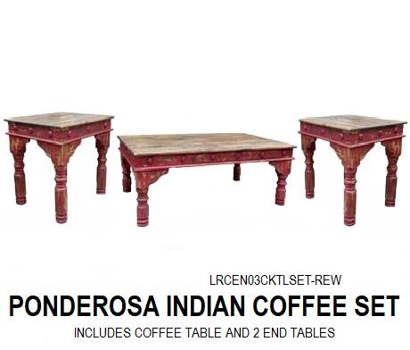 Ponderosa Indian Coffee Table Set