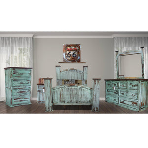 Antique Turquoise Mansion Complete 5 PC Set