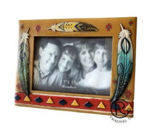 Feathered Aztec Picture Frame