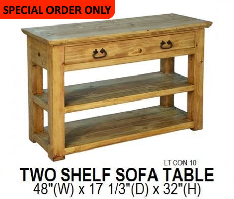 Two Shelf Sofa Table