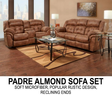 Padre Almond Sofa Set