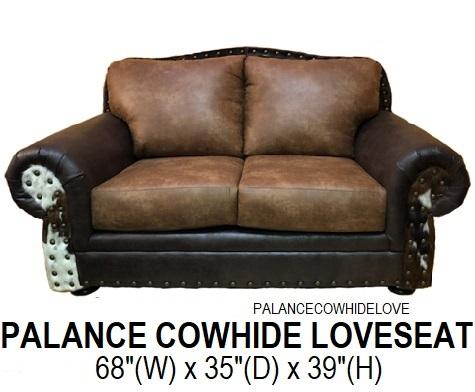 Palance Cowhide Loveseat