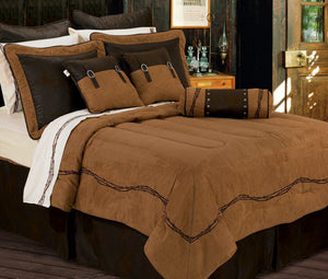 Tan Barbedwire Bedding Set