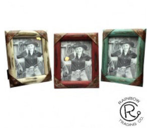 Antiqued Picture Frame