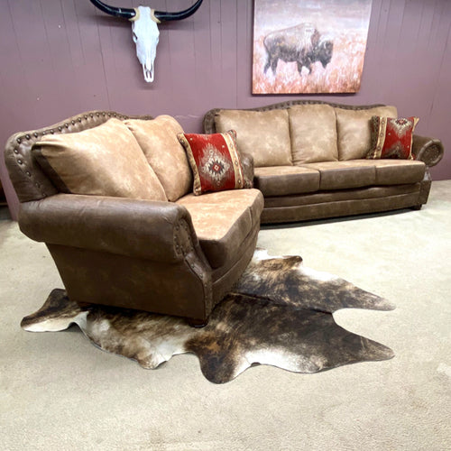 Buckskin Sofa and Loveseat