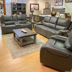 Gun Barrel Grey Sofa Set