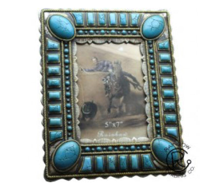 Turquoise Jade Stone Picture Frame