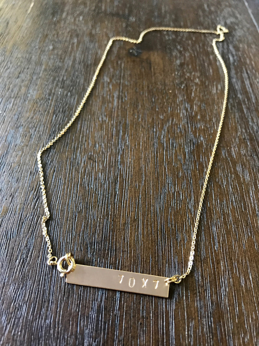 Forgiveness Bar Necklace
