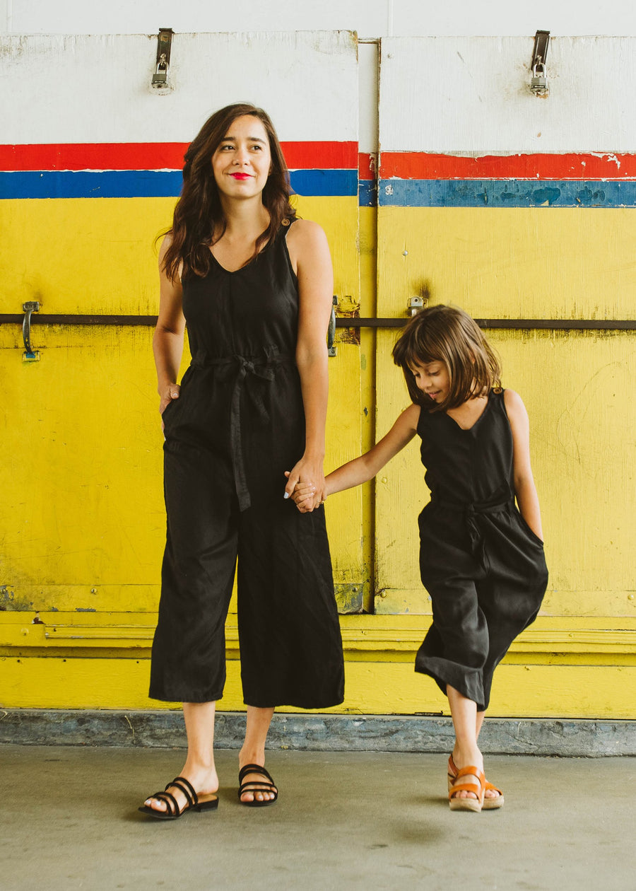 kid's jumpsuit in ebony