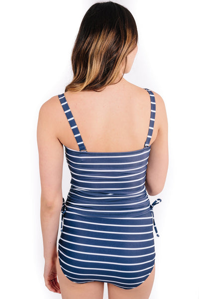 elizabeth in sailor stripe top