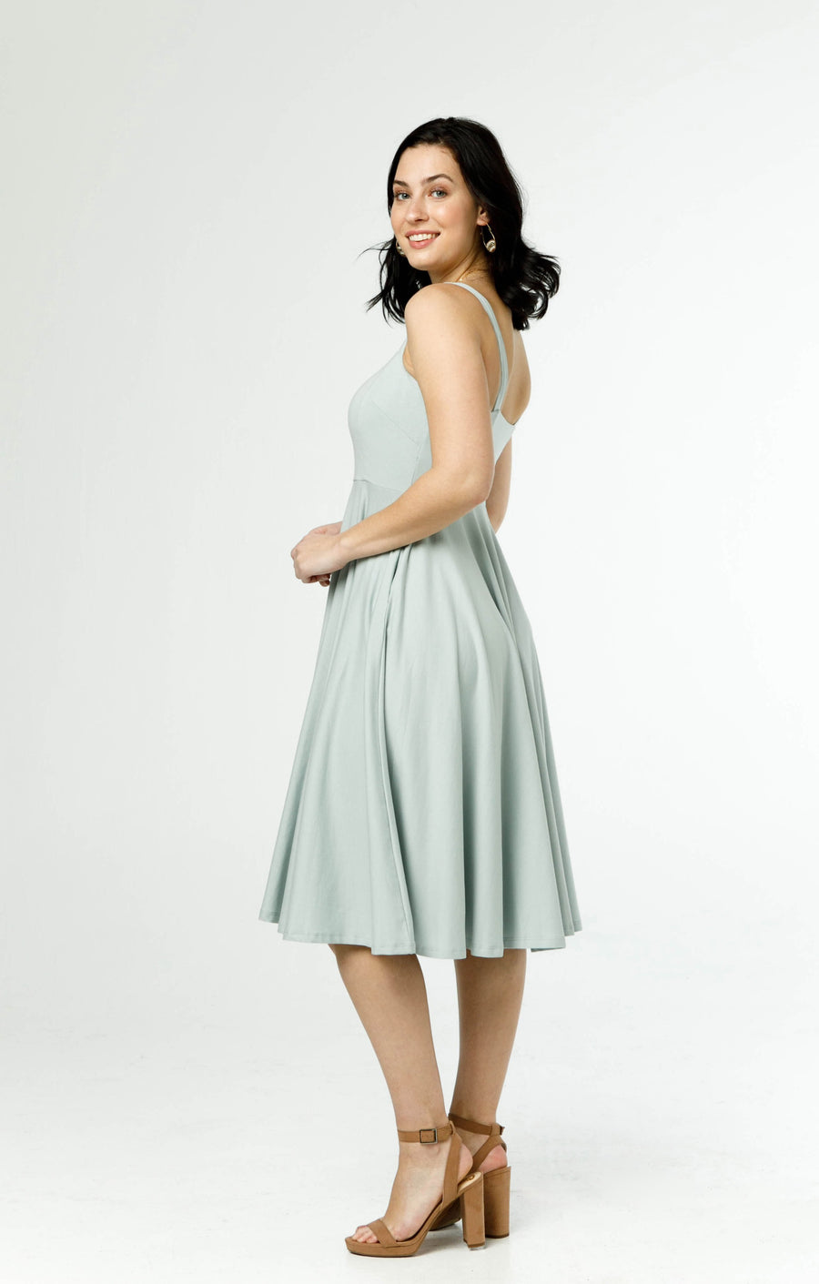 the rome dress in dusty sage