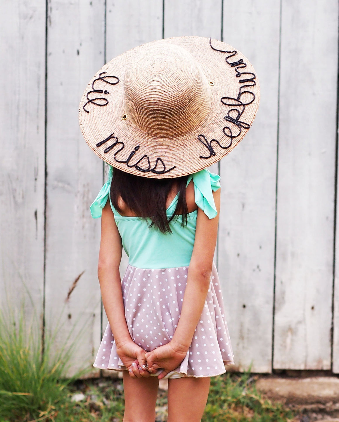 children's wide brim hepburn hat